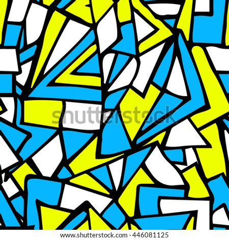 stained glass texture white yellow blue - stock vector