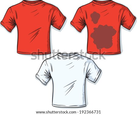 Stained t-shirt - stock vector