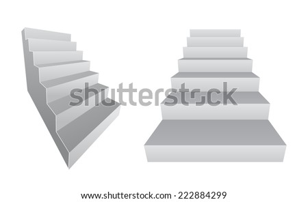 stair 3d design element icon - stock vector