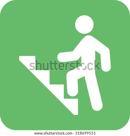 Stairs, climbing, walking icon vector image. Can also be used for activities. Suitable for use on web apps, mobile apps and print media. - stock vector