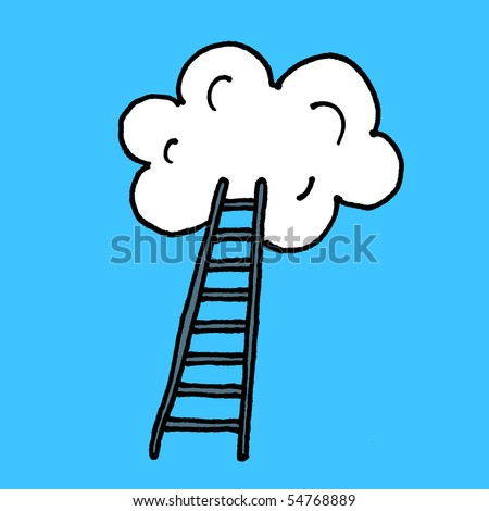 Stairway to heaven sketch. Vector. - stock vector