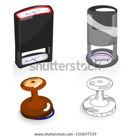 stamp - stock vector