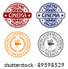 stamp - cinema - stock vector