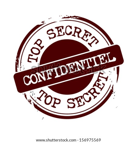 stamp Confidential - stock vector