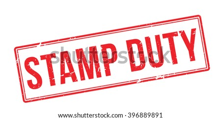 Stamp Duty red rubber stamp on white. Print, impress, overprint. - stock vector