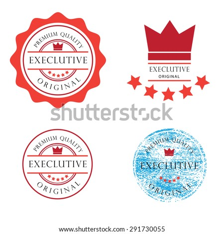 Stamp exclusive badge vector tag - stock vector