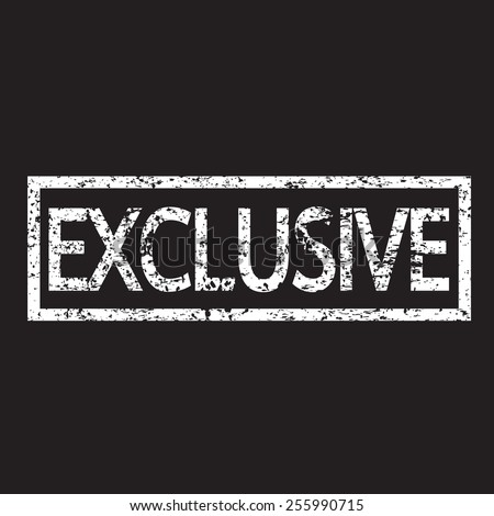 Exclusive Text Exclusive Stamp Stock ...