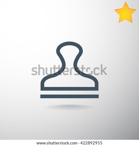 Stamp Icon. Stamp Icon Vector. Stamp Icon Art. Stamp Icon eps. Stamp Icon Image. Stamp Icon logo. Stamp Icon Sign. Stamp Icon Flat. Stamp Icon design. Stamp icon app. Stamp icon UI. - stock vector