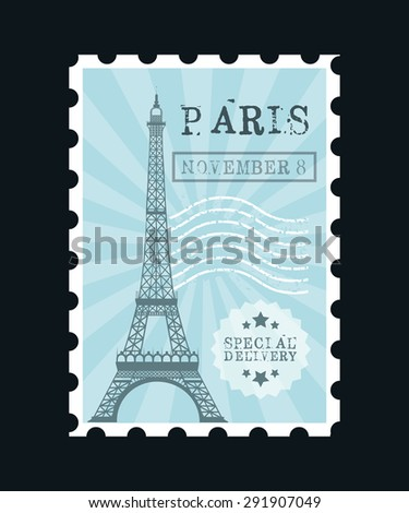 stamp mail design, vector illustration eps10 graphic  - stock vector