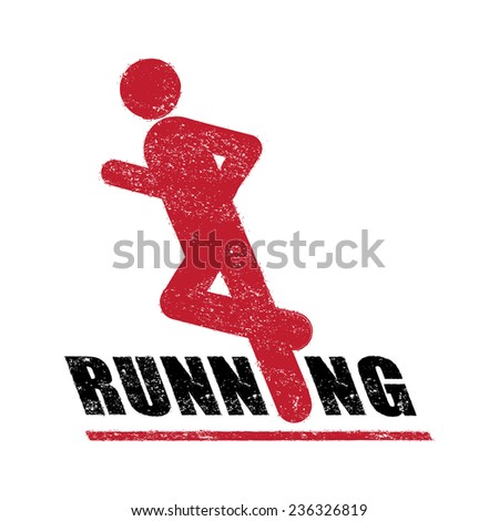 Stamp of running sign vector - stock vector