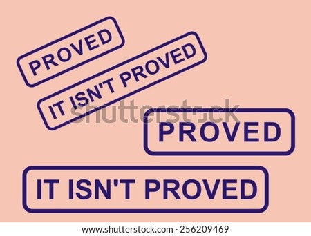 """Stamp """"proved"""" and """"not proved"""" - stock vector"""