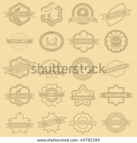 Stamp set for sale. Vector illustration. - stock vector