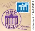 Stamp set with words Berlin, Germany inside, vector illustration - stock vector
