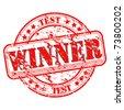 Stamp Test Winner- vector illustration on white background. Easy editable color. - stock vector