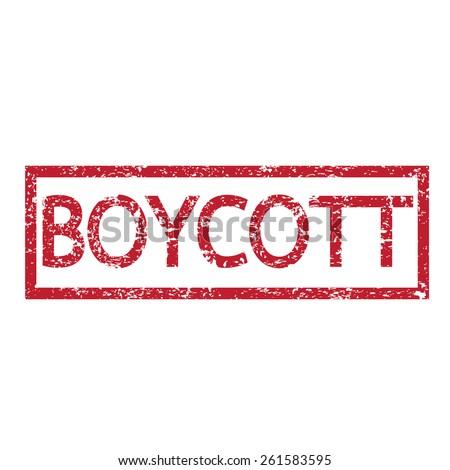 Stamp text BOYCOTT - stock vector