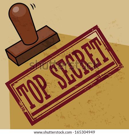 Stamp Top Secret, vector illustration - stock vector