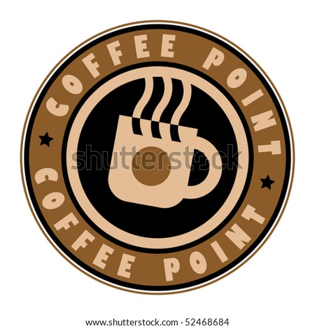 Stamp with coffee cup, vector illustration - stock vector
