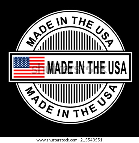 stamp with flag of the USA - stock vector