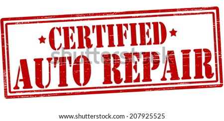 Stamp with text auto repair inside, vector illustration