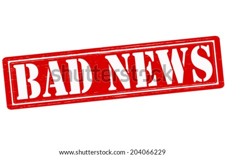 Stamp with text bad news inside,vector illustration - stock vector