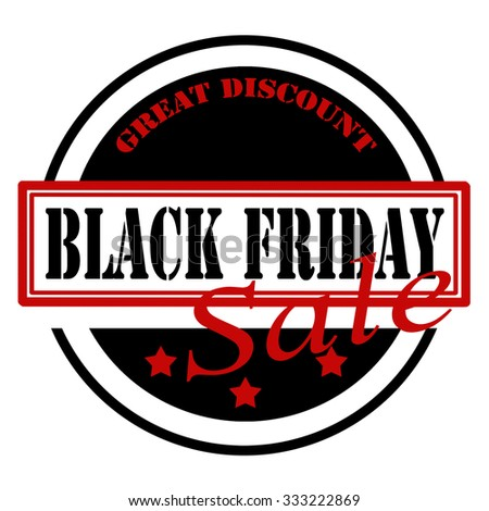 Stamp with text Black Friday,vector illustration - stock vector