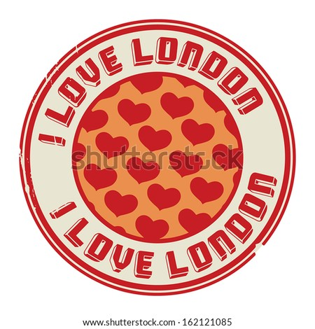 Stamp with text I love London, vector illustration - stock vector