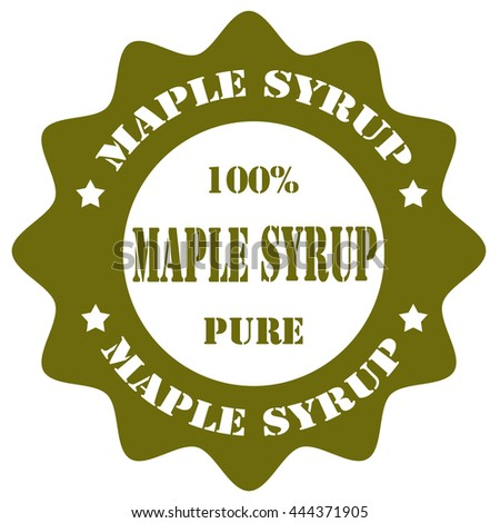 Stamp with text Maple Syrup,vector illustration