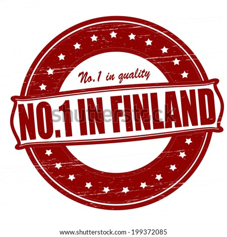 Stamp with text no one in Finland inside, vector illustration