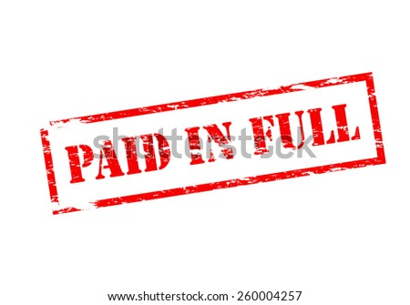 Paid In Full Stamp Vector