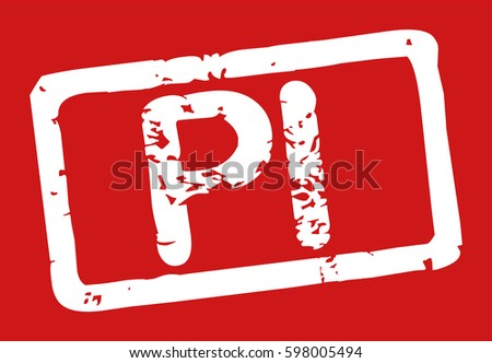 Stamp Word Pi Grunge Style White Stock Vector 2018 598005494