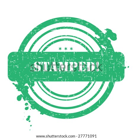 Stamped stamp isolated on white background with grunge - stock vector