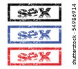 Stamps with sex - stock vector