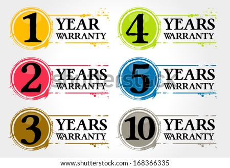stamps years warranty - stock vector