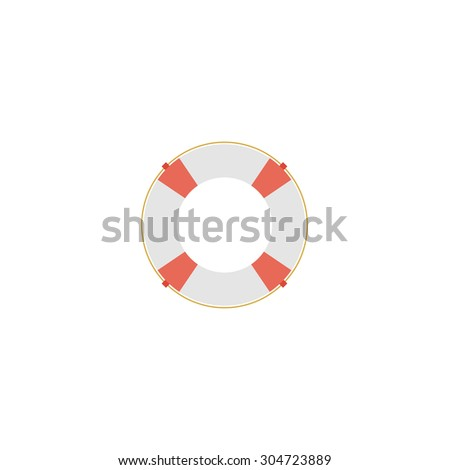 Stand alone Icon in flat style ( lifebuoy ) - stock vector