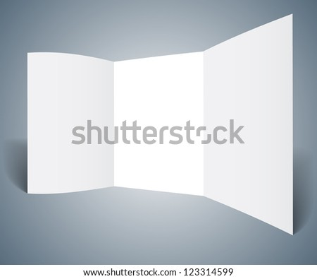 Stand at the exhibition, the template - stock vector