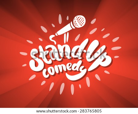 Stand up comedy background. - stock vector