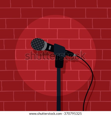 stand up comedy stage live show - stock vector
