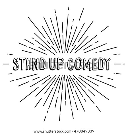 stand up comedy text show - sunrays retro theme