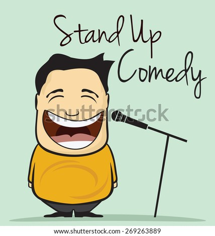 Stand up comedy vector illustration - stock vector