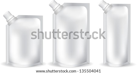 stand-up spout pouch with cap - stock vector