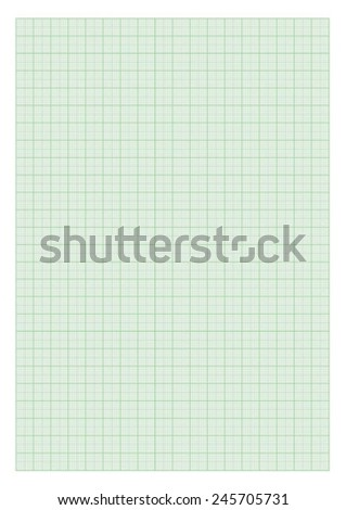 Standard A4 millimeter paper - Green. - stock vector