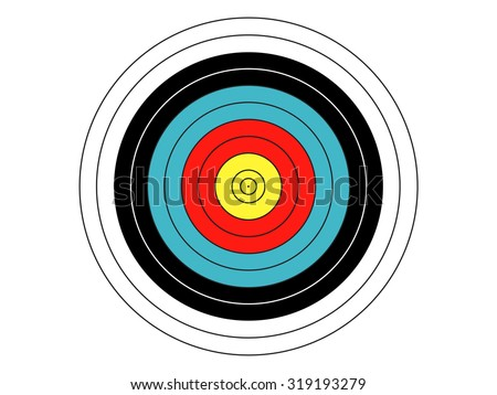 Standard Archery Target - stock vector