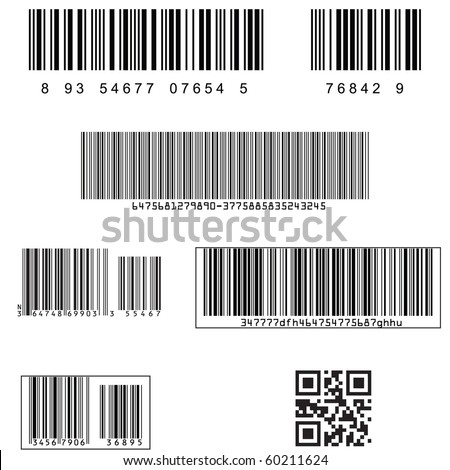 Standard barcodes and shipping barcode - stock vector