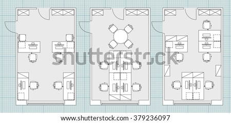 Standard furniture symbols used architecture plans stock photo standard furniture symbols used in architecture plans icons set office planning blueprint graphic design malvernweather Image collections