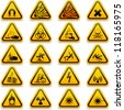 Standard hazard symbols - stock vector