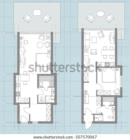 Standard Office Furniture Symbols Set Used In Architecture Plans Home Planning Icon Graphic