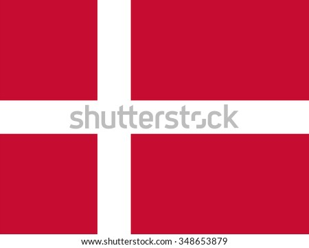 Standard Proportions for Denmark Flag Country - stock vector