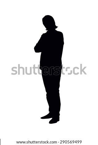 standing boy's silhouette