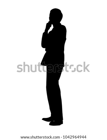 standing businessman silhouette vector stock vector royalty free