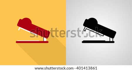 Stapler icon sign set: flat, solid - stock vector